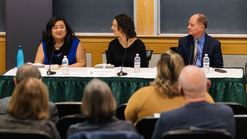 Social Justice Award winners during a panel discussion